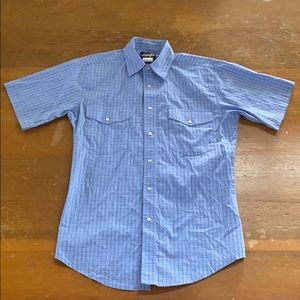 Wrangler Western Cowboy Button Down Shirt Sz M